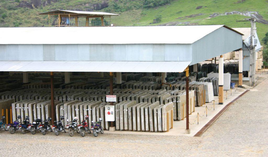 pavilion full of granite