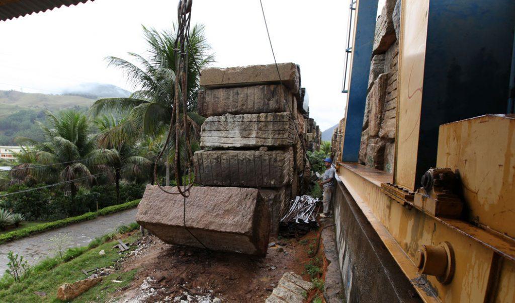 stacked blocks of granite