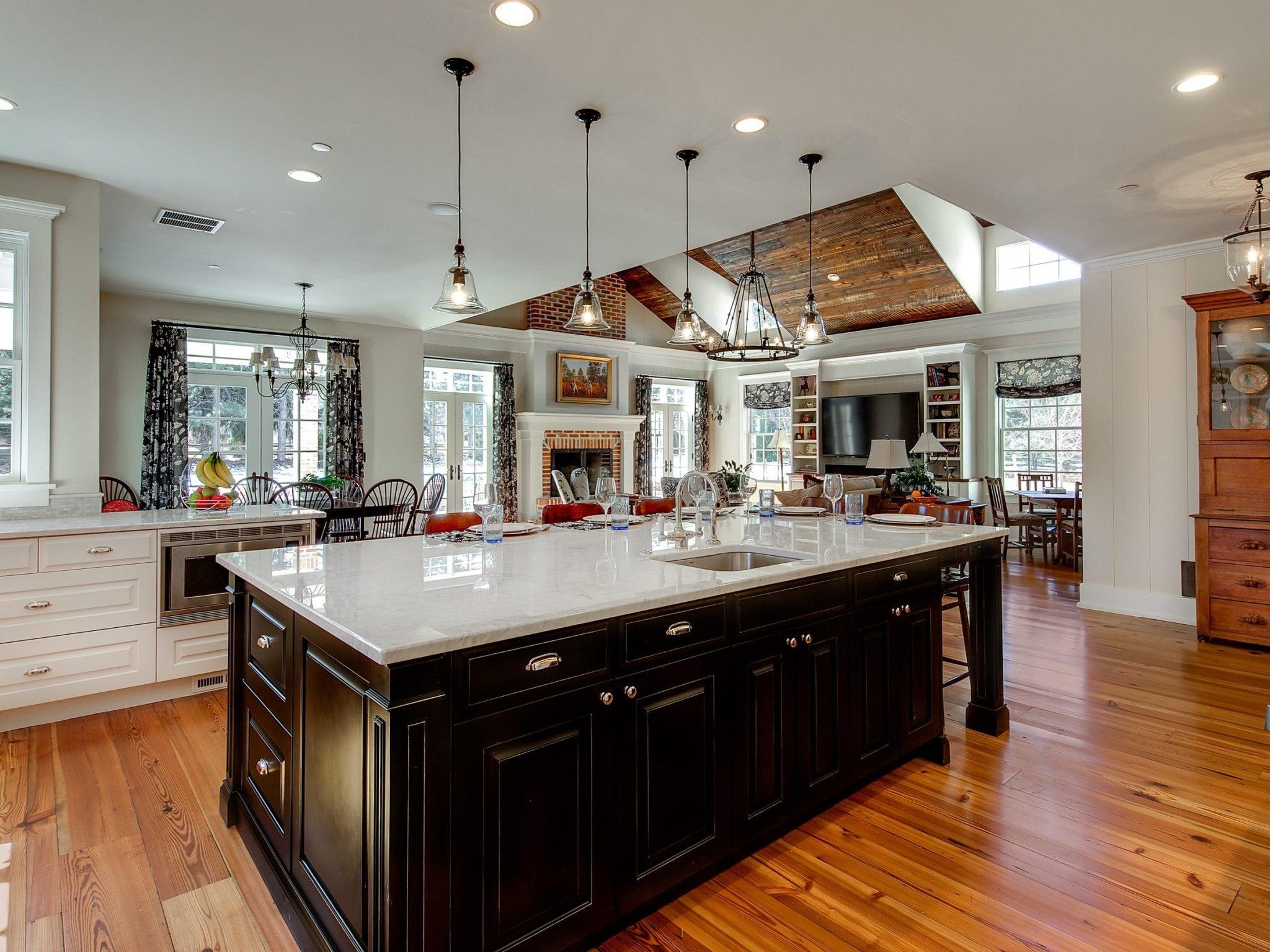 bright modern kitchen with white countertops