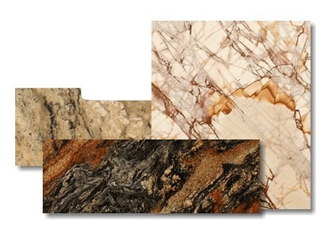examples of granite and marble remnants