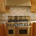 beige diamond backsplash