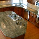 green kitchen counters