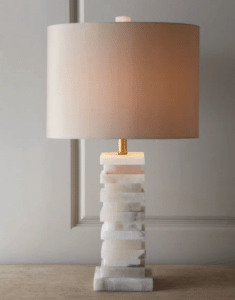 White Modern Granite Remnant Lamp
